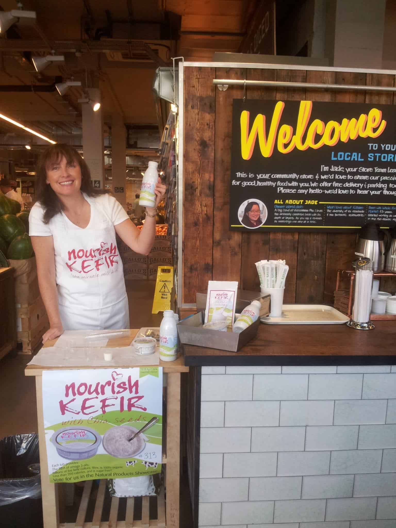 Nourish kefir stall