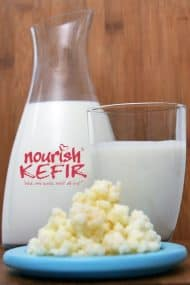 Real Kefir grains to make our drinks