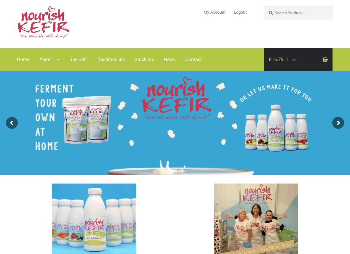 Nourish Kefir | Organic Probiotic Miracle Milk Drink | UK